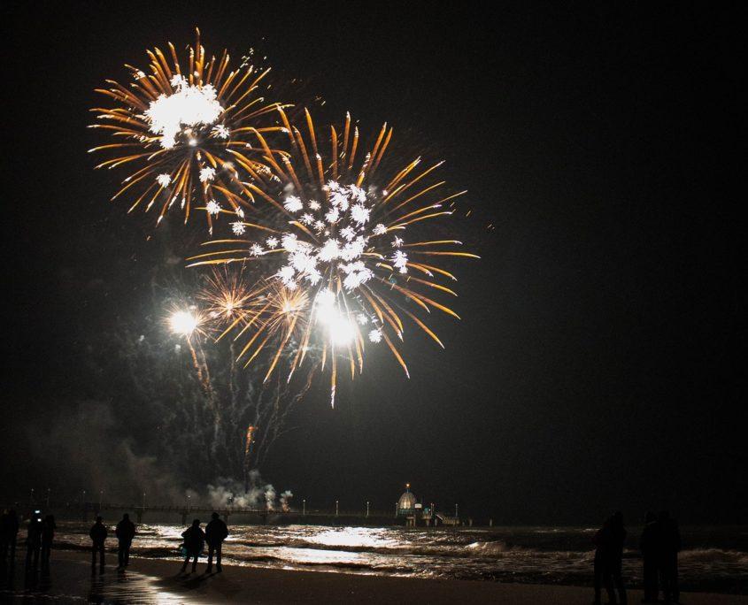 Feuerwerk auf Usedom