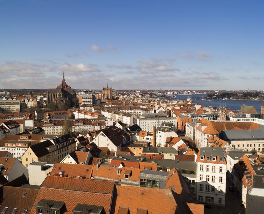 Rostocker Altstadt von oben