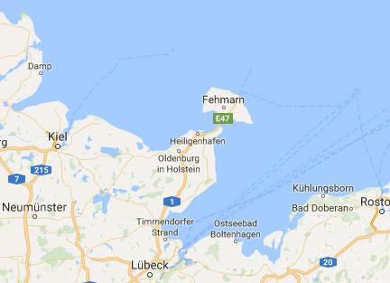 Auschnitt Google Maps Karte