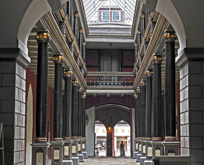 Rathaus Binnenhof Stralsund