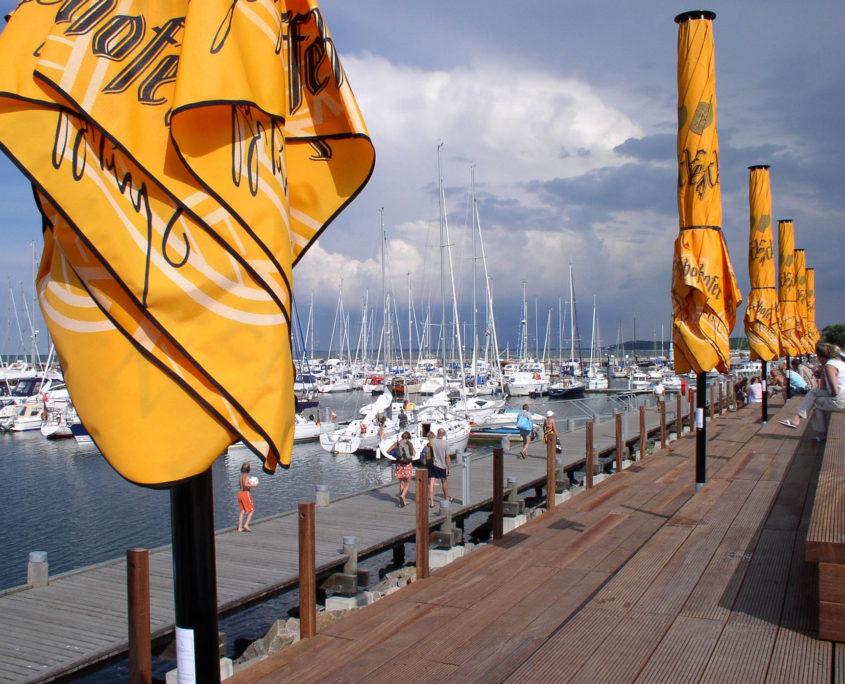 Yachthafen und Promenade in Kühlungsborn
