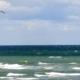 Kitesurfen am Strand von Rostock-Warnemünde