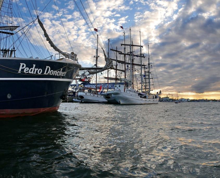 Segelschiffe beim Hanse Sail Rostock