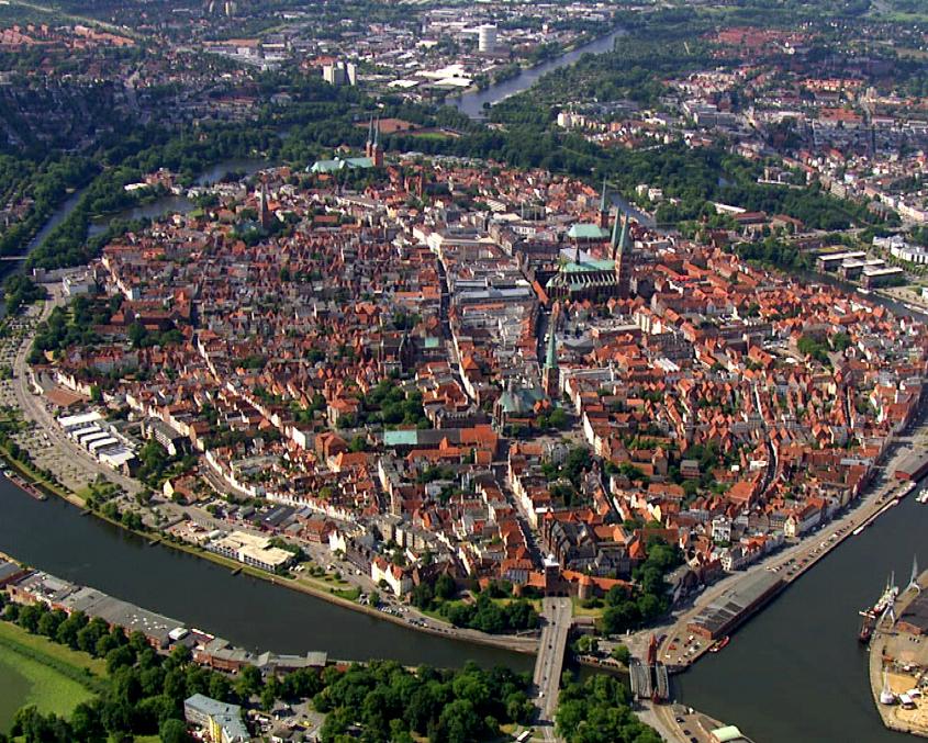 Die Ostsee von oben - Lübeck / Quelle: vidicom